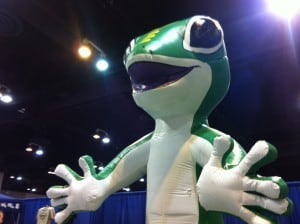 The Geico lizard was a bit scary in real life