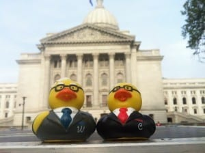 In front of the Wisconsin Capitol building