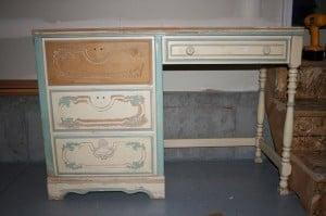 A child's desk, purchased on Craigslist for $35.