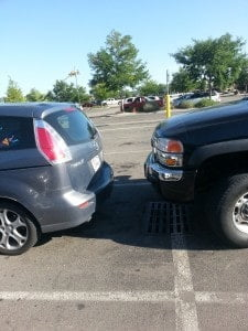 Truck CLEARLY in my space!!!