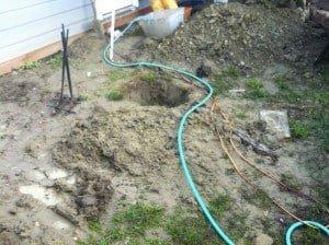 Post hole/mud hell