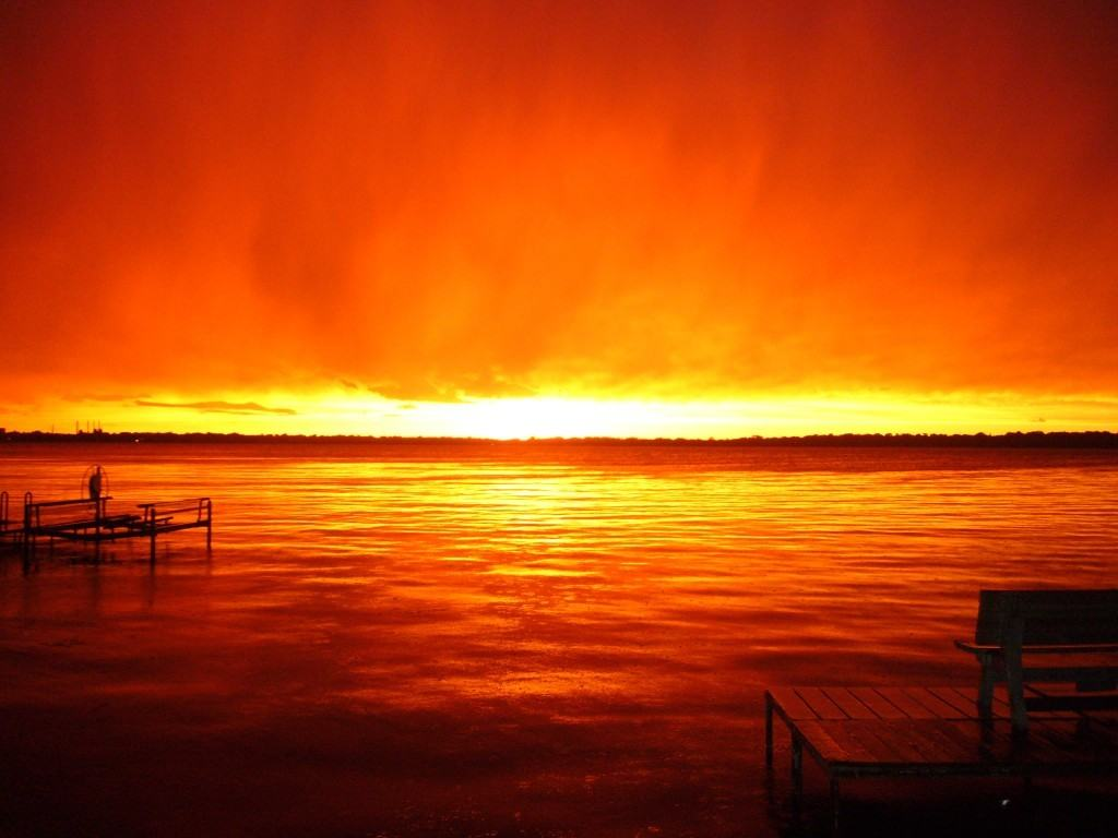 When we lived in Madison, the sky did this after a huge storm. Never seen anything like it before and probably never will again.