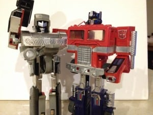 Megatron and Optimus have agreed that they don't need to give each other gifts. I wish that I could convince my family of the same.