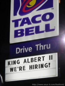I have a job for you Mr. King