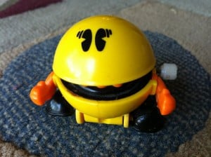 Pac-Man advises college students to save, save, save.