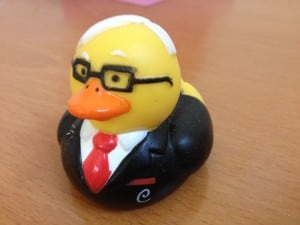 Charlie Munger, in duck form