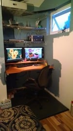 My home office, never mind the unfinished paint.