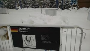 This snow sculpture didn't last long either. So much for German engineering.