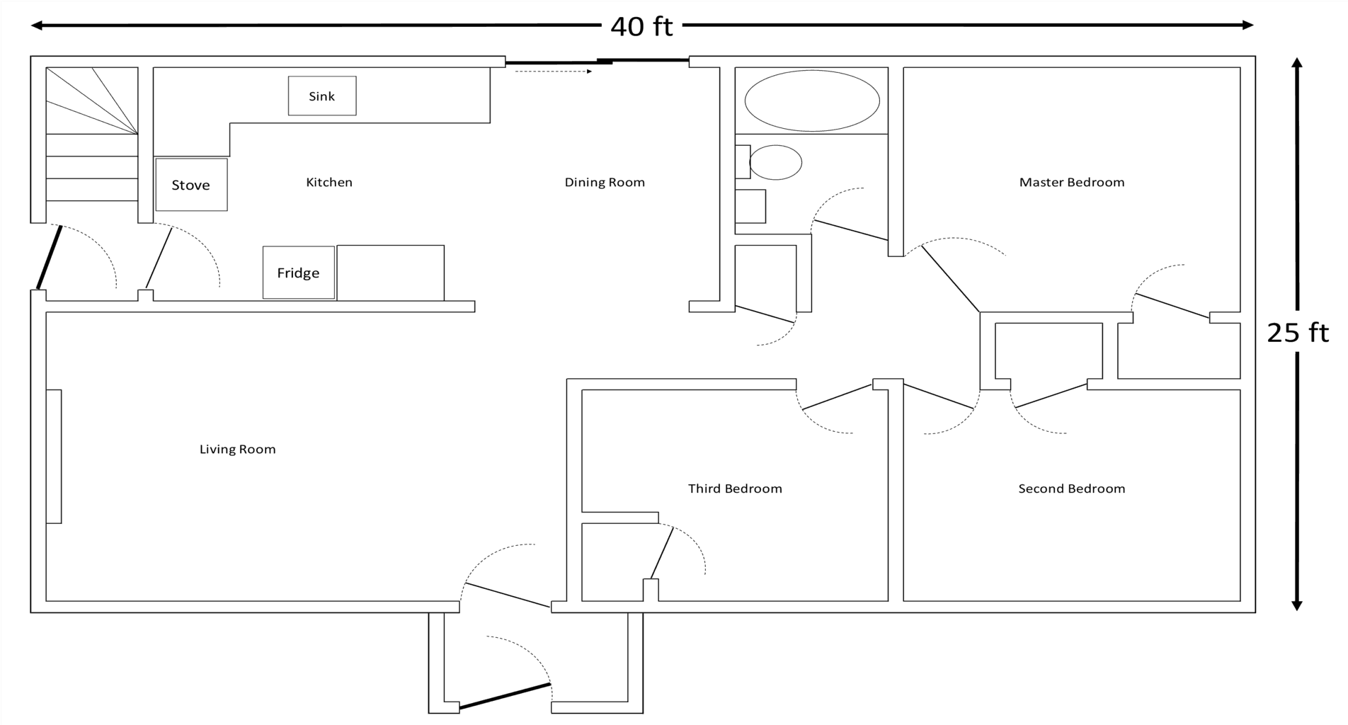 (i Apologize Profusely To Any Architects Reading This For My Poorquality  Floor Plan)