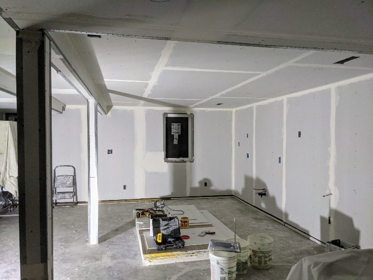 drywall in the basement