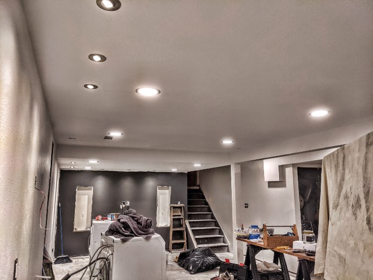 finishing a basement