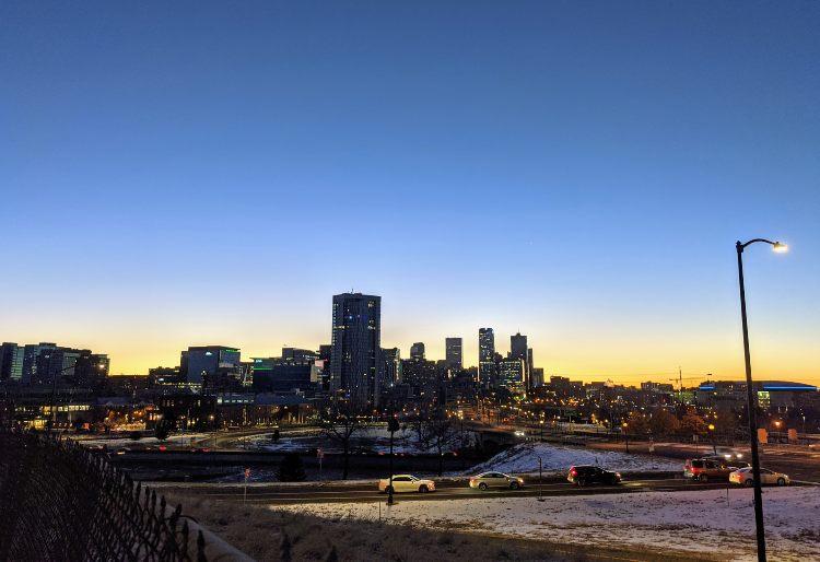 dawn in Denver